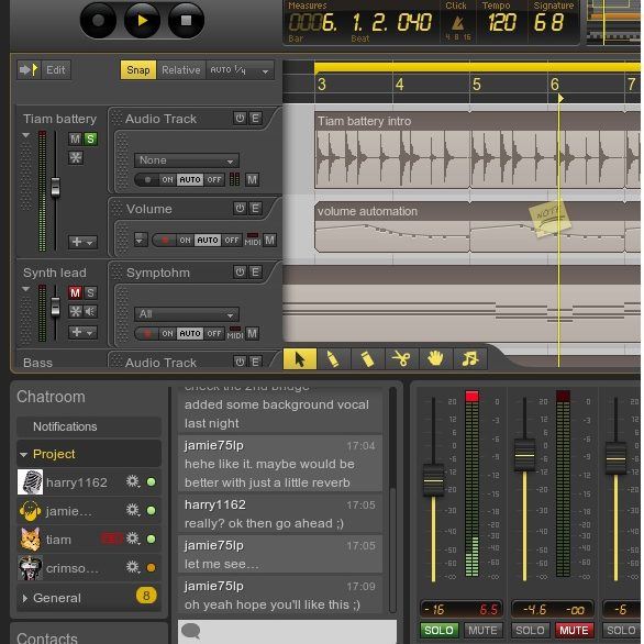 Ohm Studio Real Time Collaborative DAW