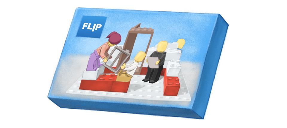 Flip Lego style box